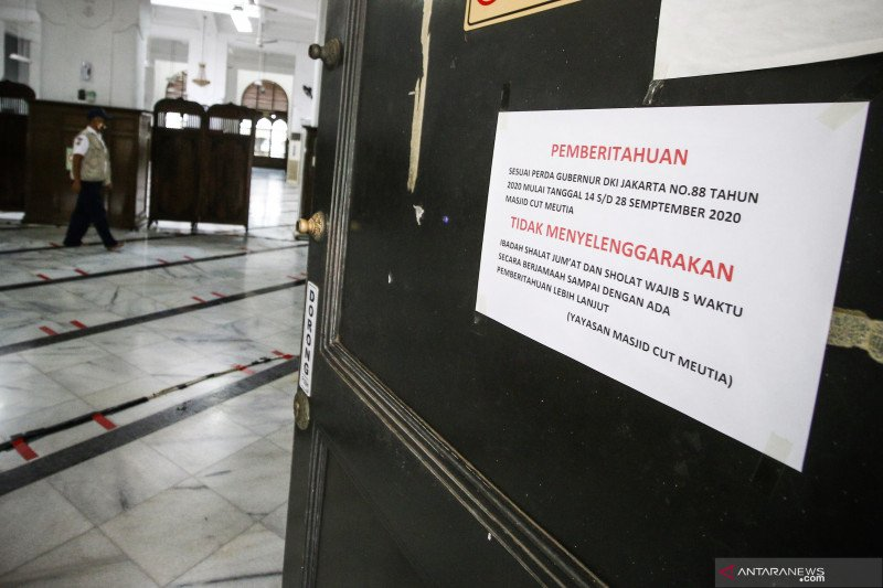 Masjid Cut Meutia ditutup