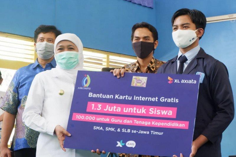 Pemprov Jatim-XL Axiata salurkan 1,3 juta paket data gratis ke pelajar