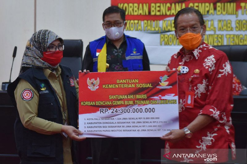 Santunan ahli waris korban tsunami Sulteng tuntas