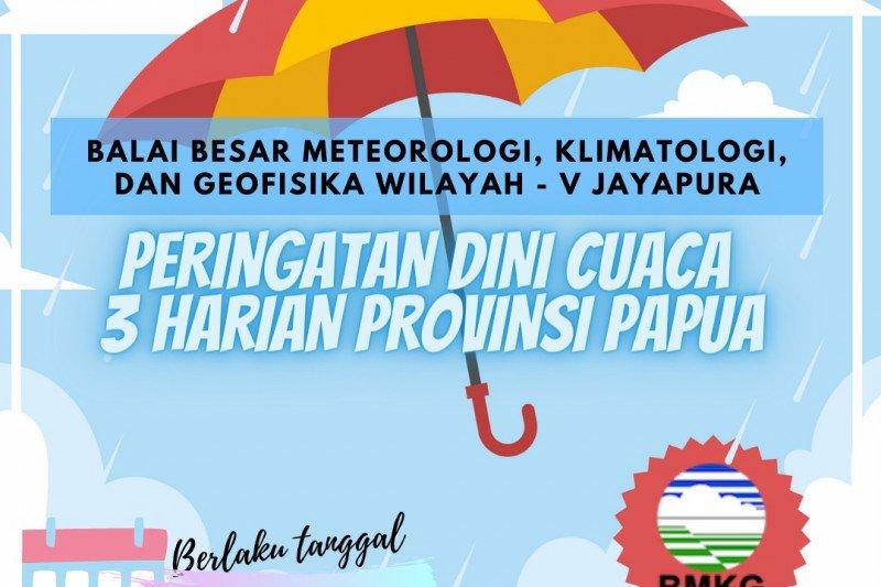 BBMKG : waspada potensi hujan lebat tiga hari ke depan