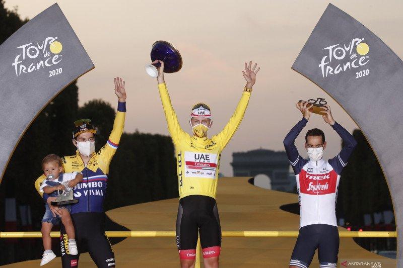 Klasemen akhir Tour de France setelah Pogacar pastikan gelar juara