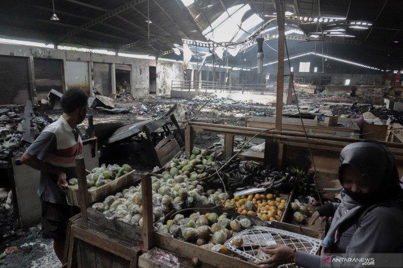 Polisi selidiki penyebab kebakaran di Pasar Wage Purwokerto