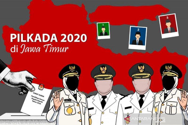 KPU Jatim: Bakal kontestan Pilkada terkonfirmasi COVID-19 satu orang
