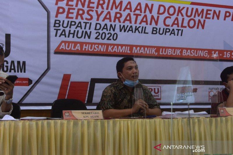KPU Agam tetapkan dua pasangan calon bupati-wakil bupati