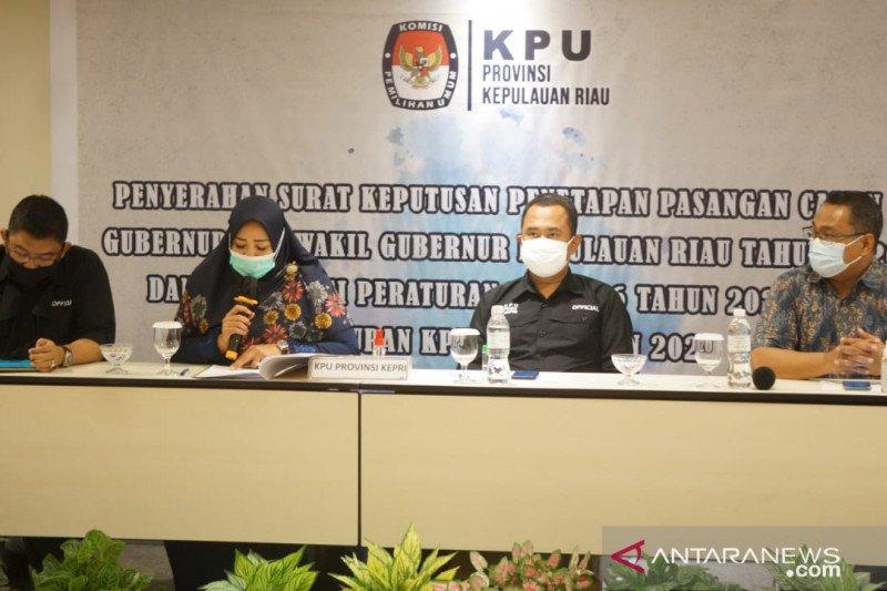 KPU Kepri tetapkan tiga pasangan calon Pilkada Serentak 2020