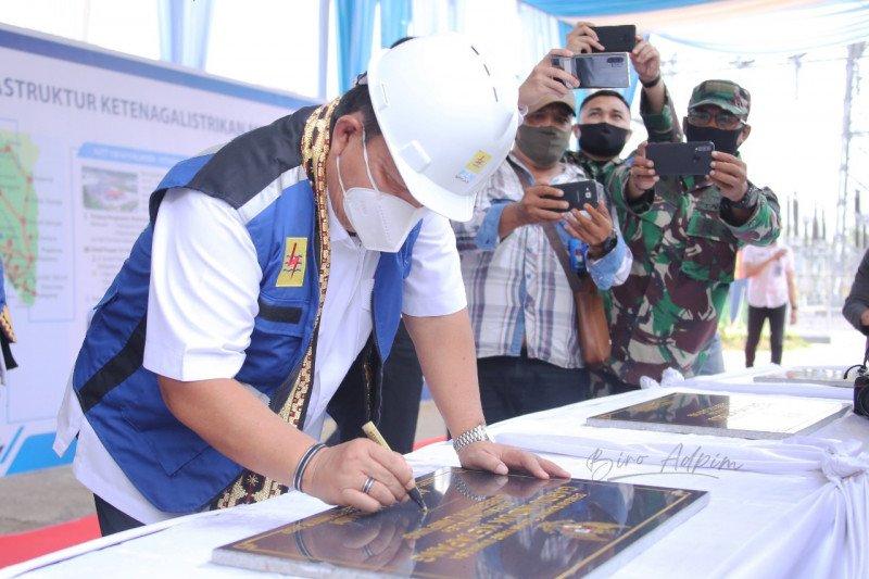 Gubernur Lampung resmikan lima gardu induk PLN