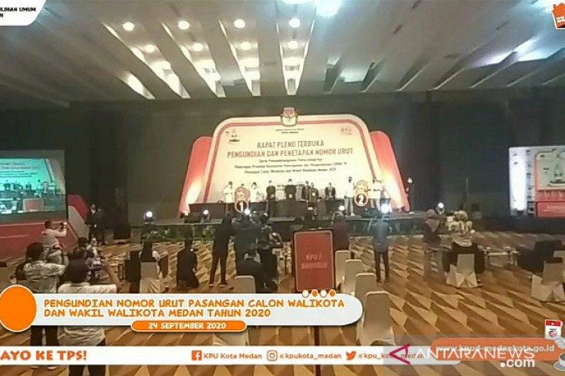 KPU tetapkan nomor urut paslon Pilkada Medan 2020