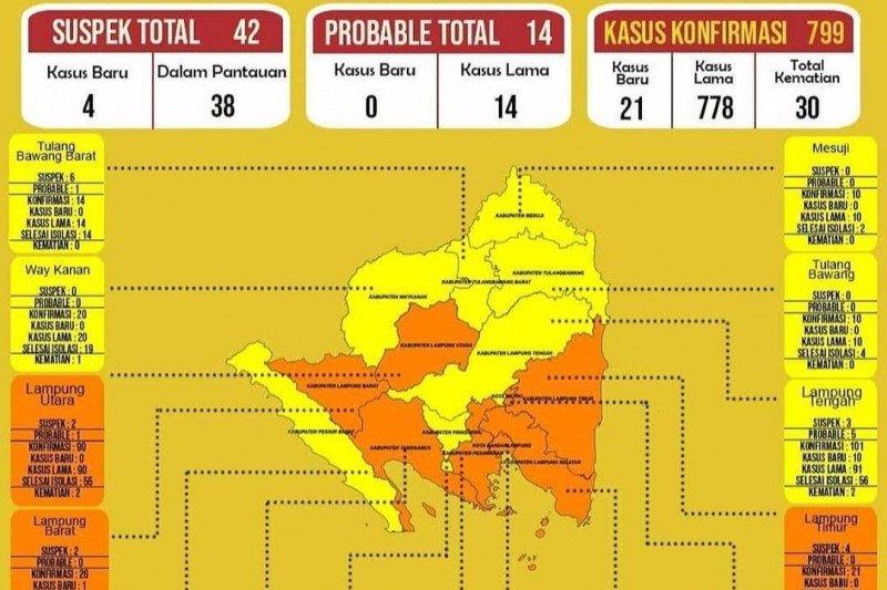 Dinkes sebut di Lampung ada delapan zona oranye
