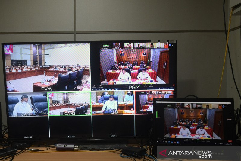 Rapat virtual Komisi III DPR-Jaksa Agung