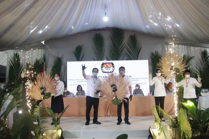 KPU Sulut gelar pleno pengundian nomor urut paslon