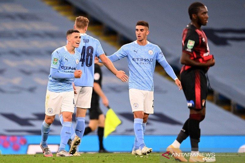 City susah payah singkirkan Bournemouth di putaran ketiga Piala Liga