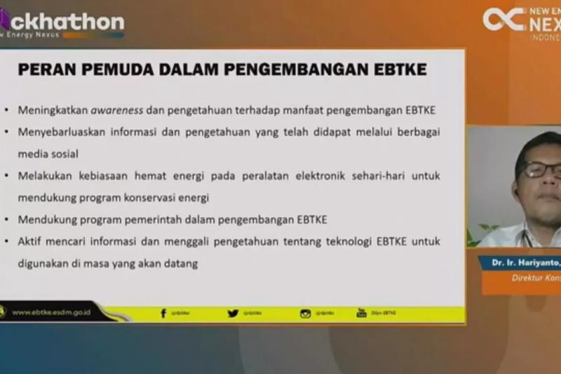 Pemerintah libatkan milenial dalam pengembangan EBT