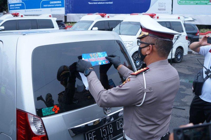 Ditlantas Polda Lampung gencar kampanyekan masyarakat pakai masker