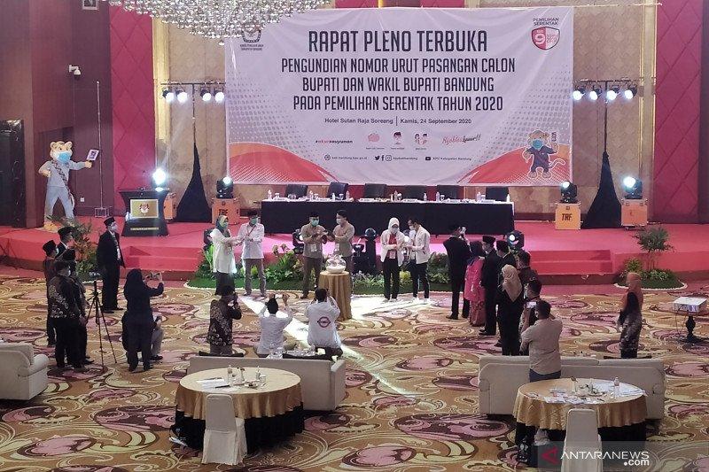 KPU Kabupaten Bandung dorong kampanye tiga paslon secara daring