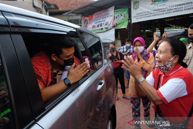 Bobby Nasution blusukan ke pasar tradisional