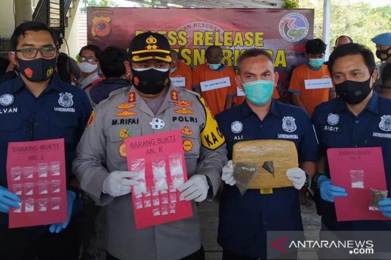Satnarkoba Polres Cianjur tangkap enam bandar narkoba