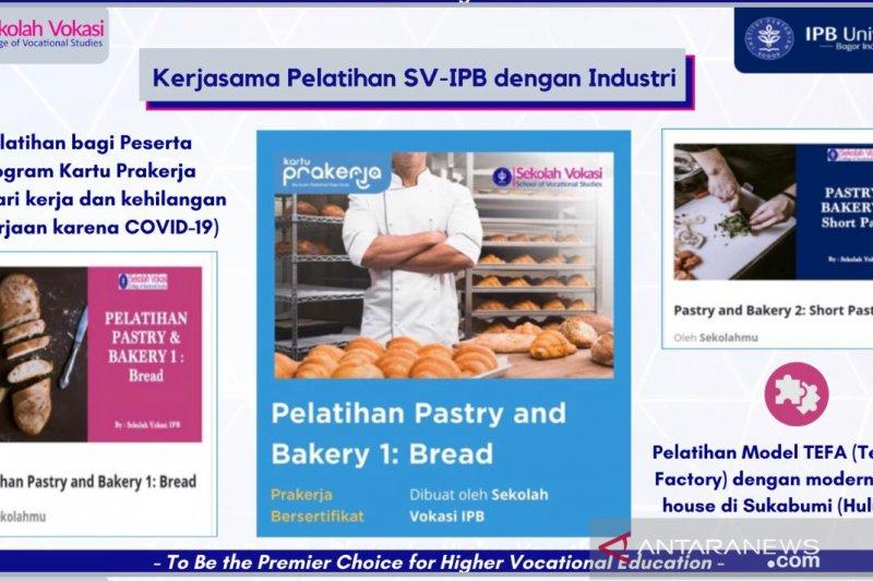 Sekolah Vokasi IPB gelar pelatihan pastry bagi peserta Kartu Prakerja