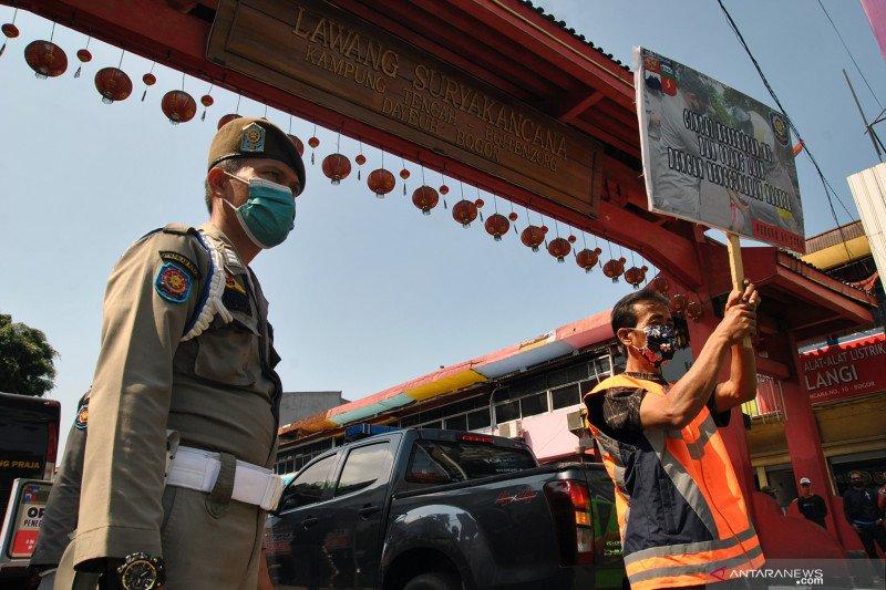 Operasi yustisi penggunaan masker di zona merah Kota Bogor