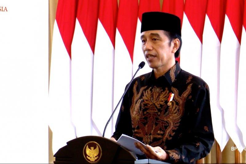 Presiden Jokowi ajak GP Ansor ikhtiar lahir batin perangi pandemi