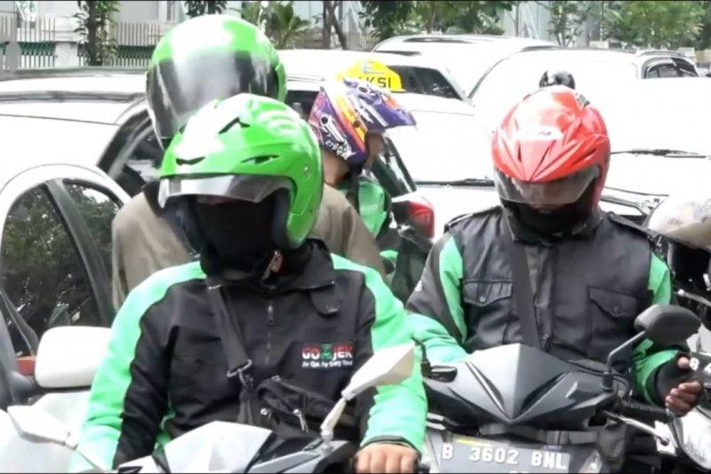Kerumunan ojek daring saat PSBB Jakarta akan dipantau secara geofencing
