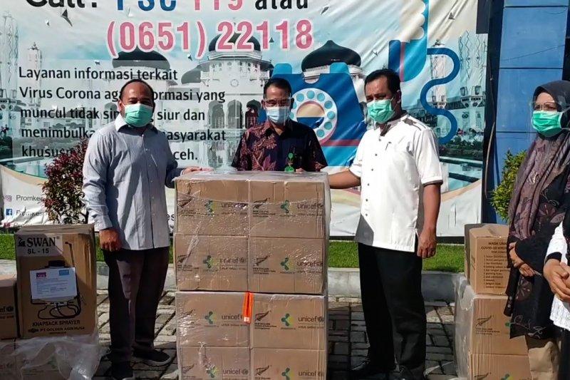 Dinkes Aceh terima 1.000 paket alat kebersihan dan disinfeksi