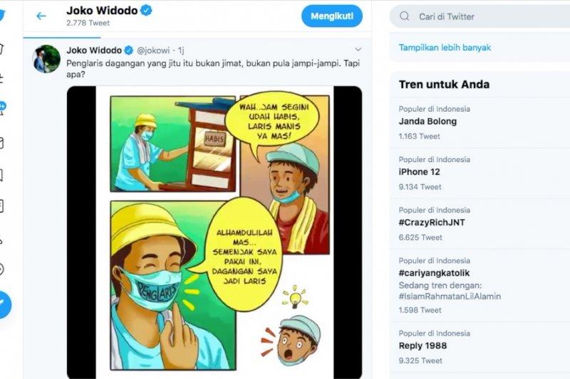 Rahasia dagangan laris ala Presiden Jokowi