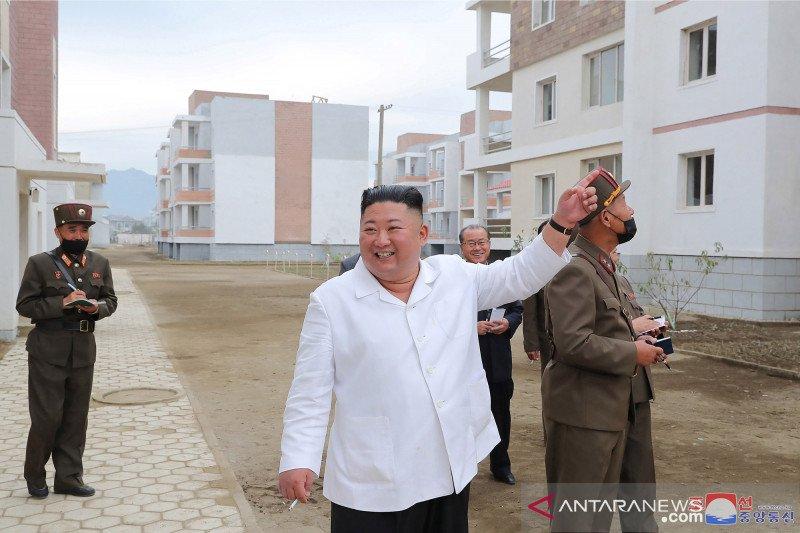 Kim Jong Un kunjungi lokasi rekonstruksi di Kimhwa