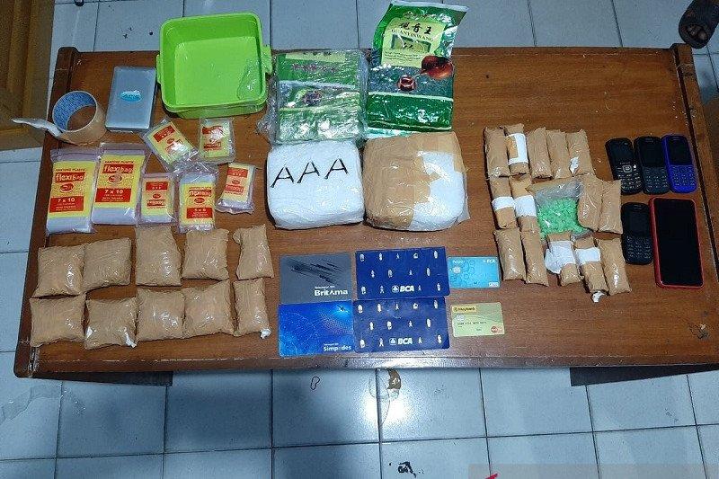 Kepolisian Jambi amankan puluhan kilogram sabu di lintas Sumatera