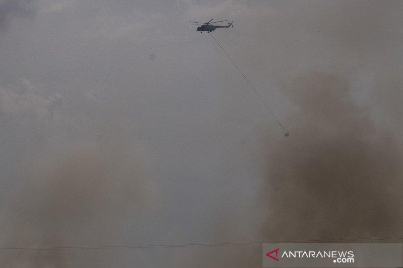 Kebakaran lahan di Palembang