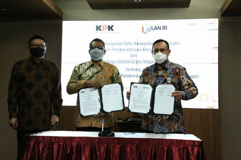 KPK dan LAN teken MoU tingkatkan kompetensi SDM