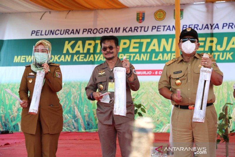Luncurkan Kartu Tani di Lampung, Mentan salurkan KUR dan asuransi
