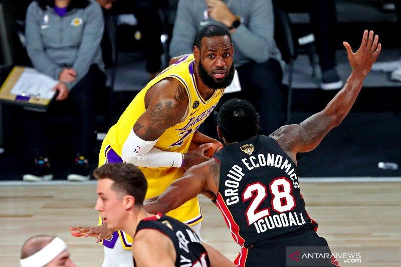 Final NBA: LA Lakers sementara unggul 3-1 atas Miami Heat