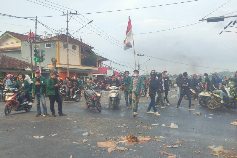 Polisi bantah kabar ada korban jiwa pada aksi massa di Lampung