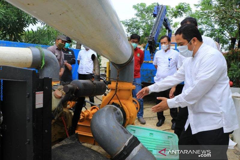 Modifikasi mesin pompa 600 liter/detik Tangerang tahap penyempurnaan