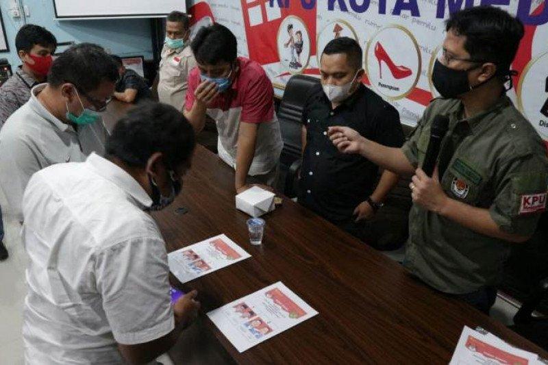 KPU-tim paslon Pilkada Medan sepakati desain surat suara