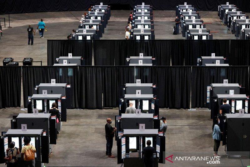 Arena Hawks di Atlanta jadi tempat pemungutan suara pilpres terbesar di AS