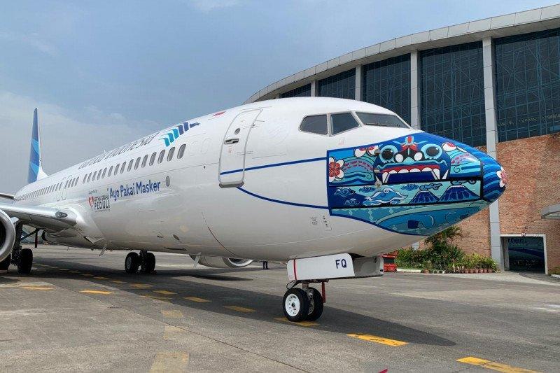 Garuda: Desain masker di pesawat bagian sosialisasi protokol kesehatan
