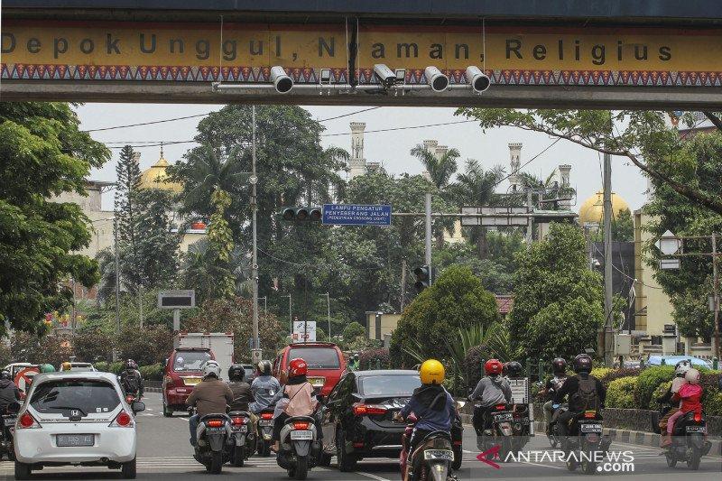 Uji coba tilang elektronik di jalan Margonda Depok