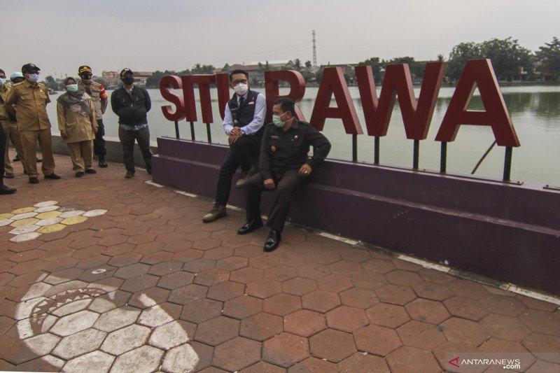 Gubernur Jawa Barat tinjau Situ di Depok