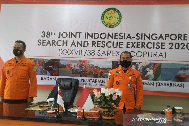 Basarnas-SAR Singapura latihan bersama tangani kecelakaan pelayaran