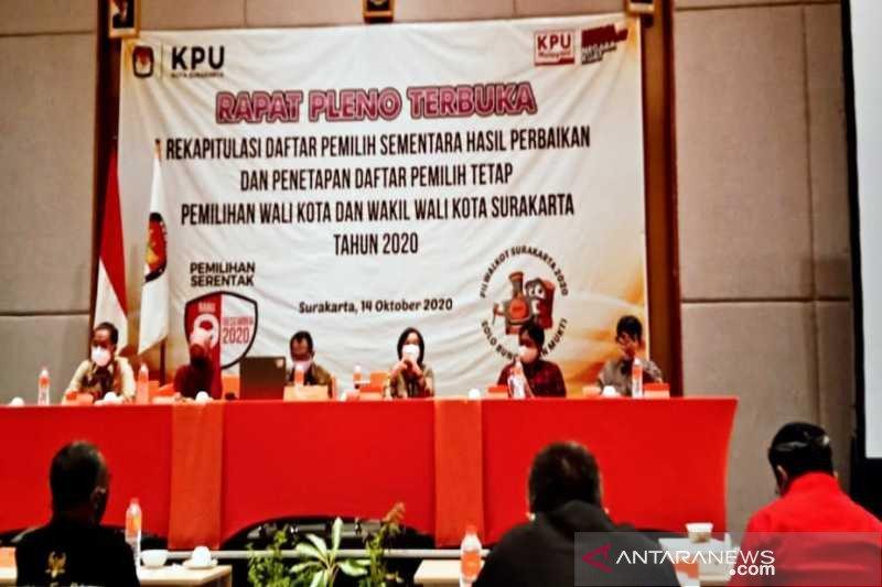 KPU Surakarta tetapkan 418.283 DPT Pilkada 2020