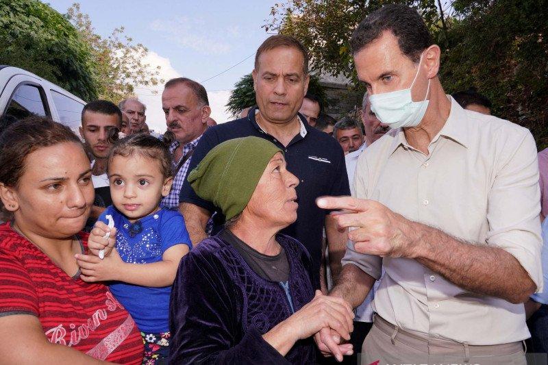 Presiden Suriah Bashar al-Assad dan istrinya positif COVID-19