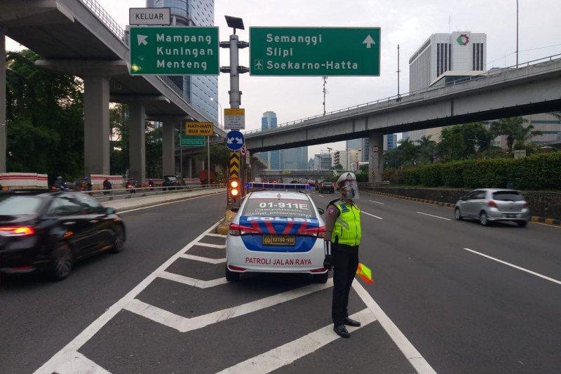 Arus lalu lintas di DKI Jakarta lancar menjelang demonstrasi