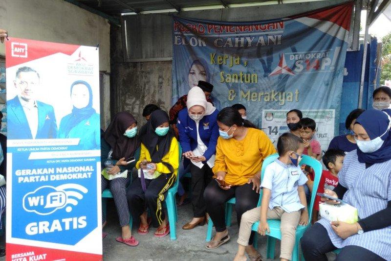 Demokrat Surabaya luncurkan wifi gratis di 31 kecamatan.