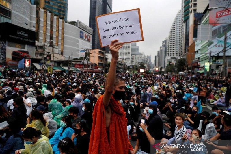 Gelombang protes anti pemerintah terus berlanjut di Thailand