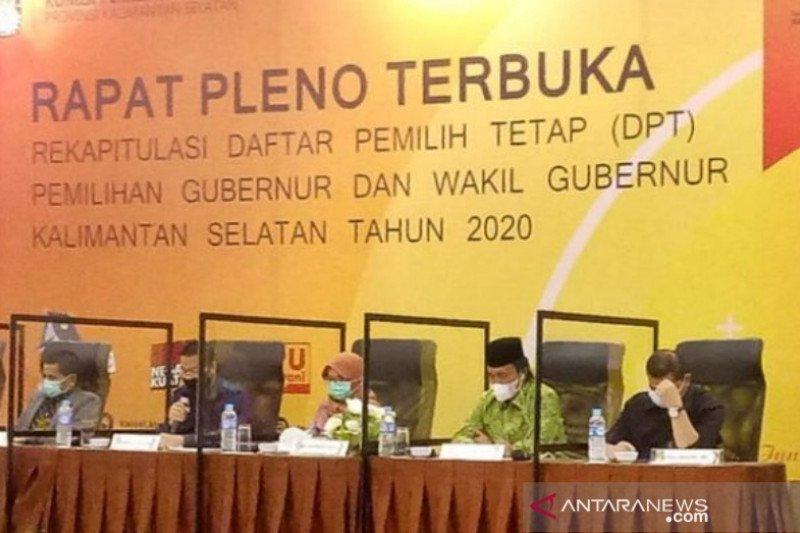 DPT untuk Pilgub Kalsel 2020 sebanyak 2.793.811 pemilih