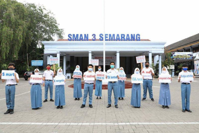 Pelajar Kota Semarang deklarasikan tolak aksi anarkis