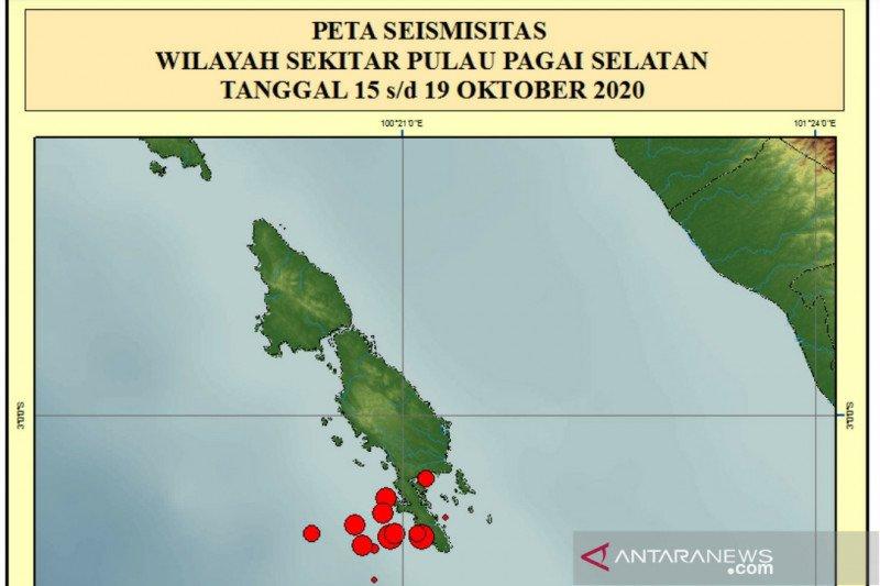 Aktivitas gempa di Mentawai meningkat, BMKG imbau warga waspada