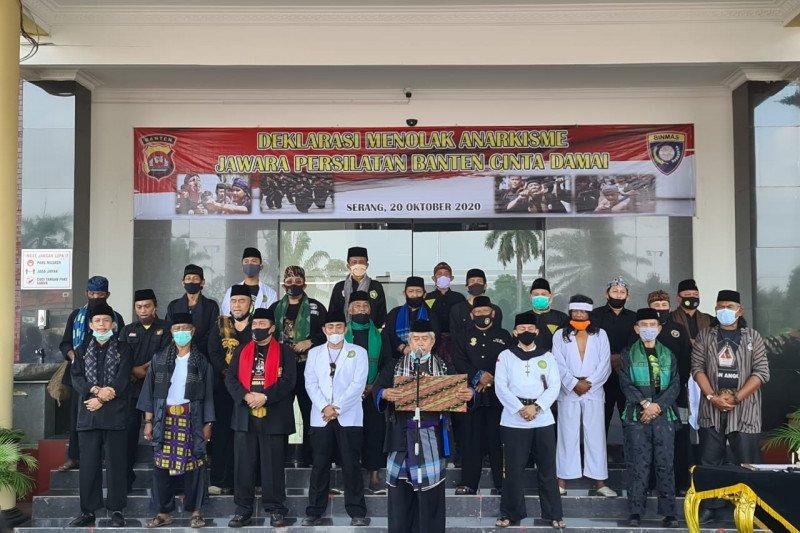 100 perguruan persilatan deklarasi tolak anarkisme di Mapolda Banten
