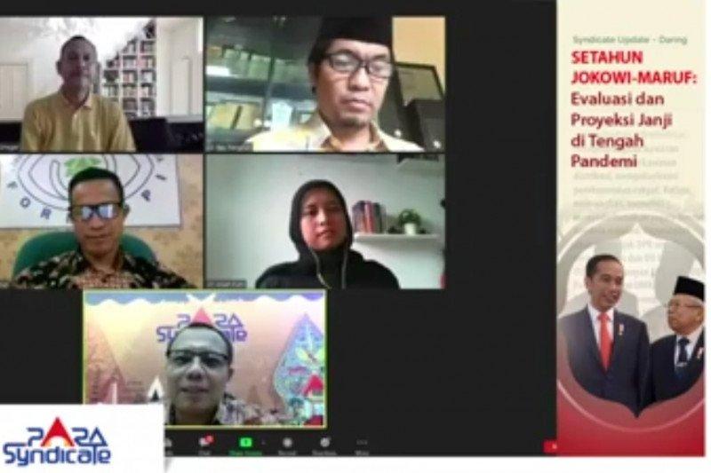 Peneliti: Setahun Jokowi-Ma'ruf menonjol di pembangunan infrastuktur